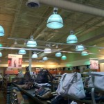 Overhead lighting remodel for a retail store.